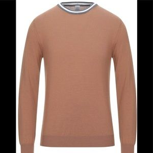 Eleventy Men's Camel Sweater Size M